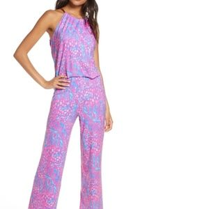 NWT Lilly Pulitzer Bowen Jumpsuit XS pink sorbet